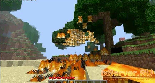 Nuke TNT Mod v2.1 добавляет новые взрывчатые вещества в мир MineCraft